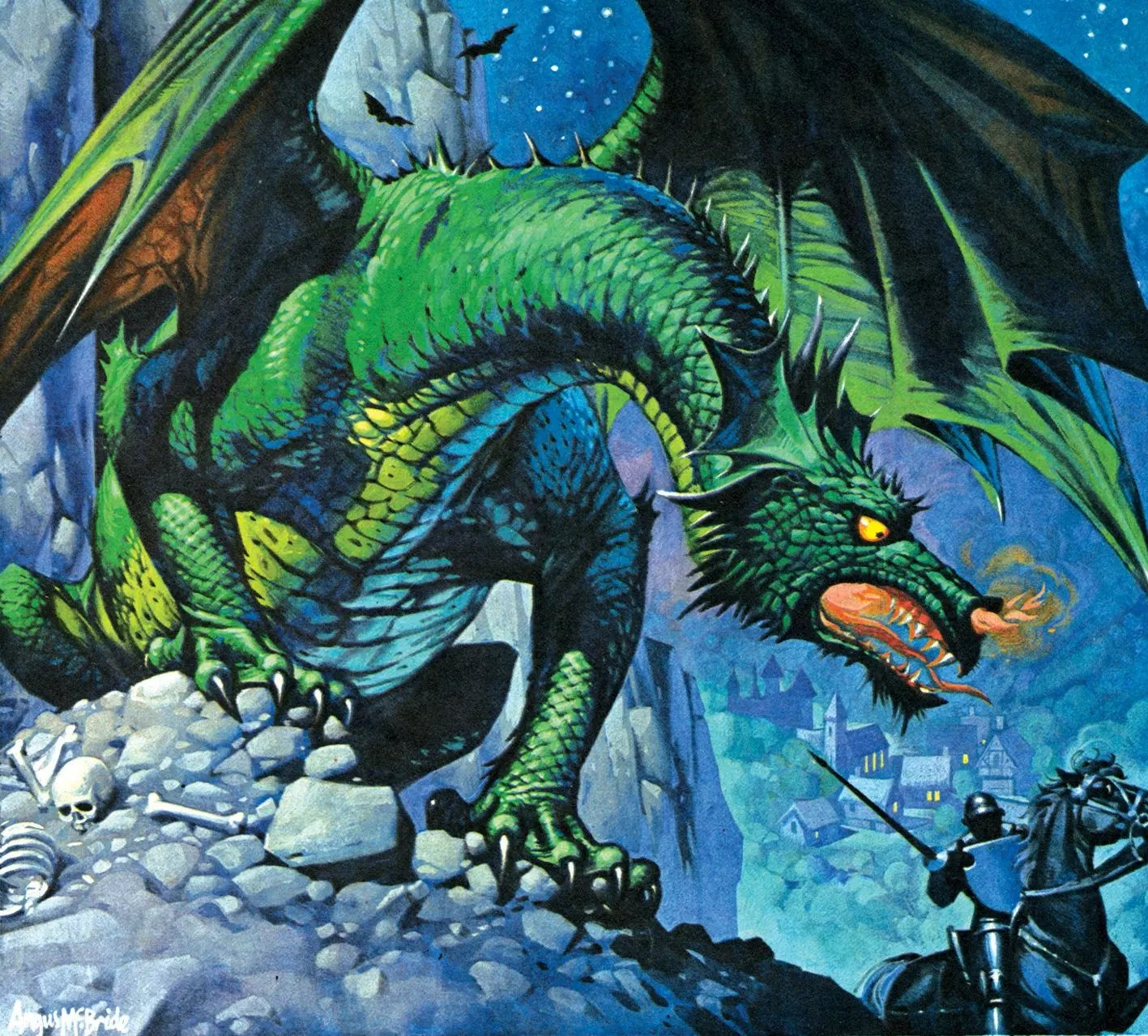 Angus McBride Beasts Dragons illus