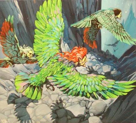 Angus McBride Beasts Harpies illus