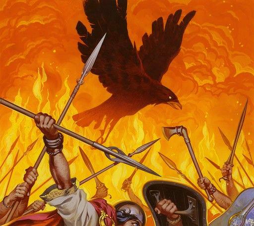 Angus McBride Beasts Morrigan illus