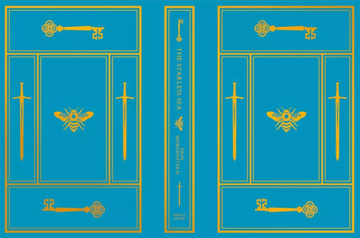erin morgenstern starless sea waterstones cover teal