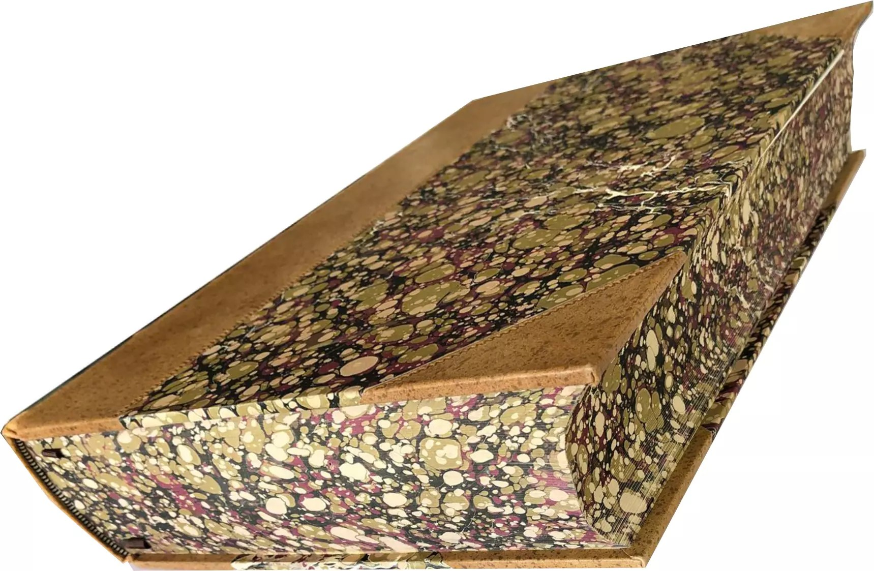 folio society johnstons dictionary marbled page edges