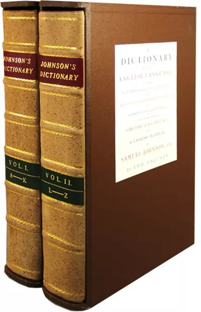 folio society johnstons dictionary
