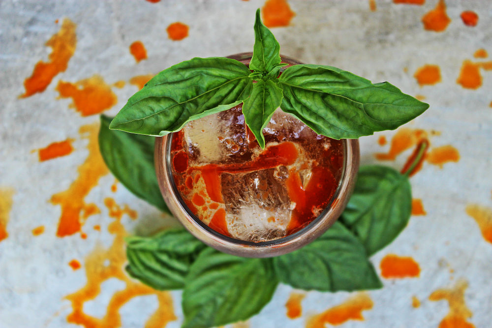 , Asian Rum Moscow Mule