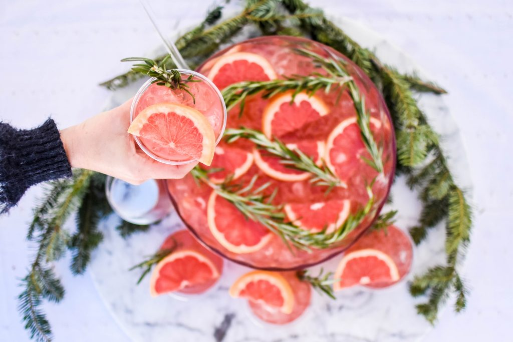 , Grapefruit Prosecco Punch