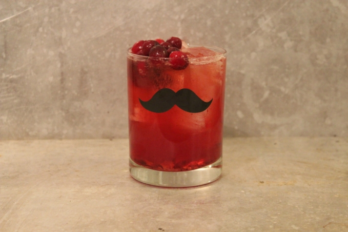 , Cranberry Whiskey Sour