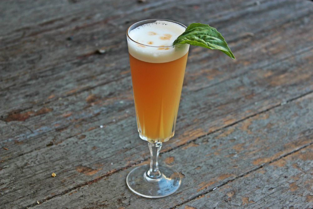 , Whiskey Basil Sour