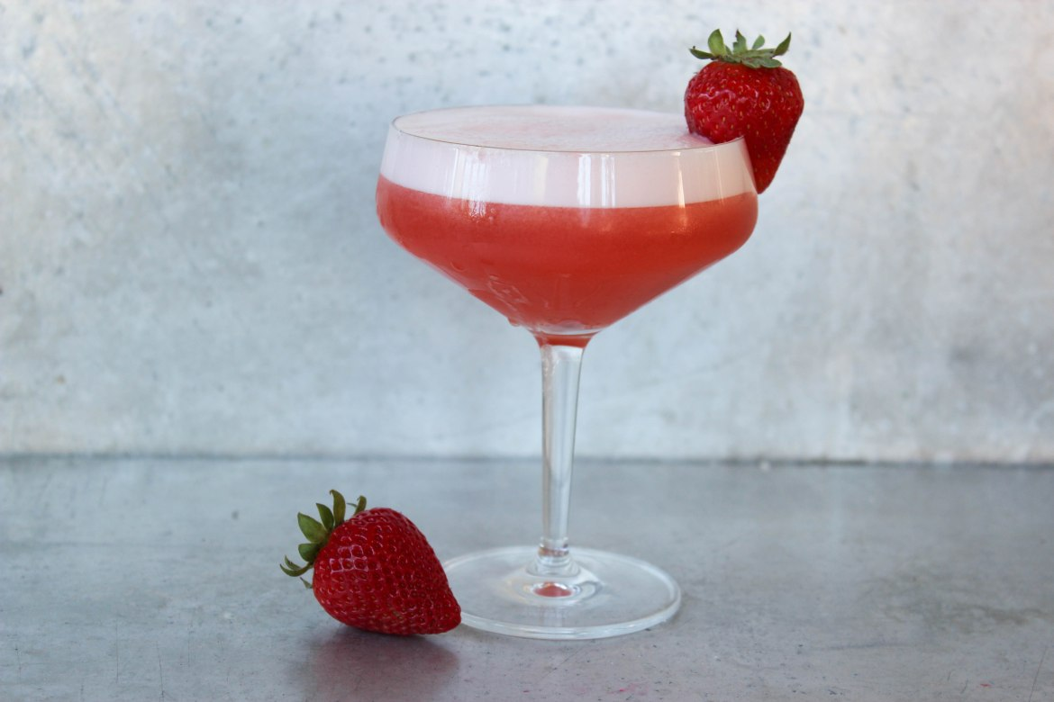 , Strawberry Tequila Sour