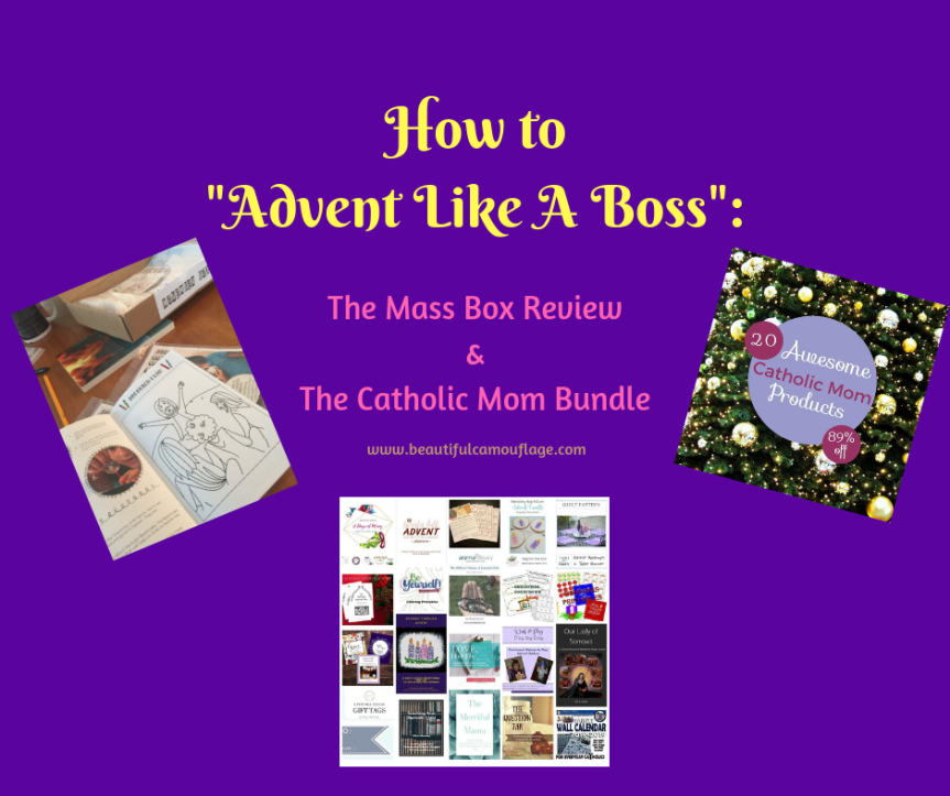 How to Advent Like a Boss: The Mass Box Review & Catholic Mom Bundle