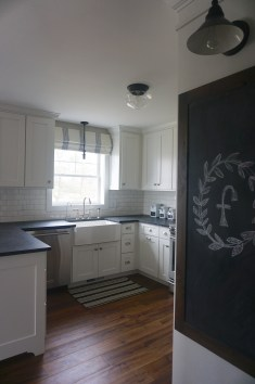 chalkboard and white country kitchen