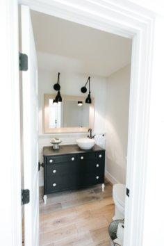 Powder room in Hidden Hillside, renovation in Minnesota