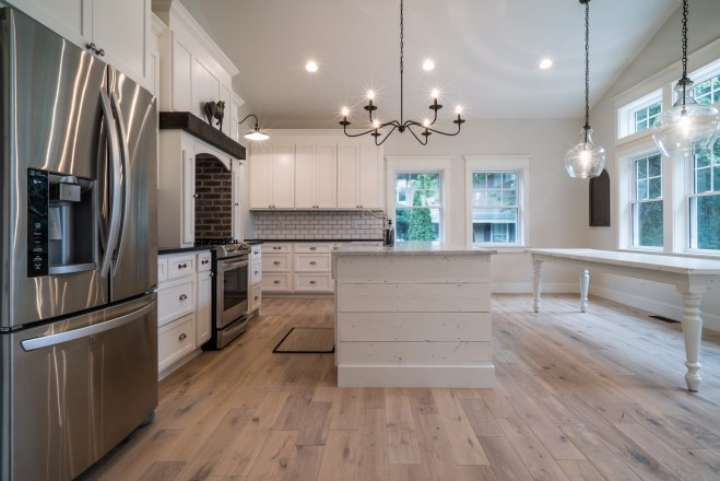 Modern Farmhouse Style House Flip Kitchen