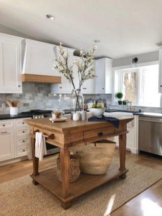 Hamptons Style Lake Home Kitchen