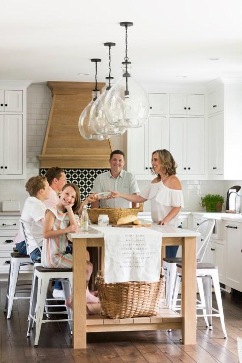The Eichers enjoying their new kitchen!