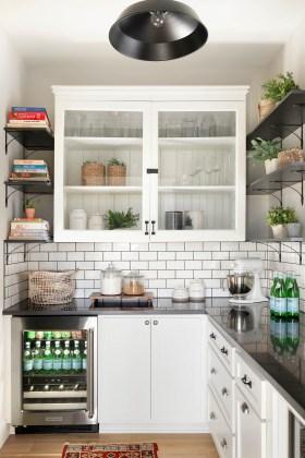 subway tile farmhouse pantry