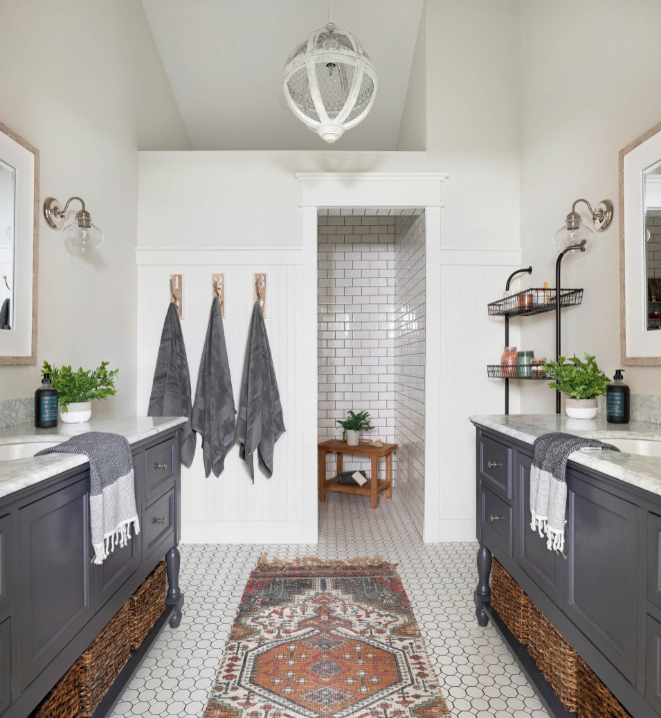 farmhouse shower tile