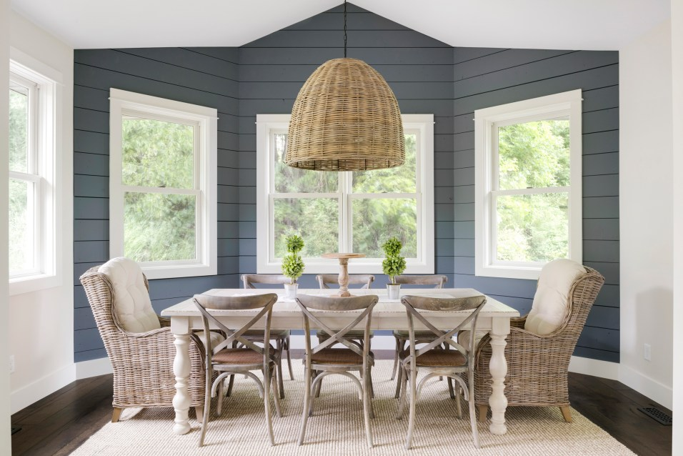 modern french country dining room chandelier and dining room table