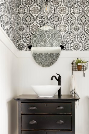 french country bathroom wallpaper