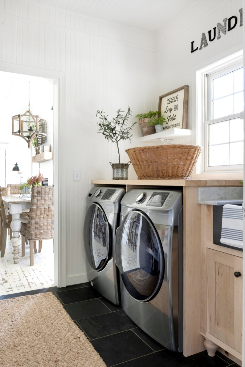 Beautiful Chaos Laundry Room - How to Decorate with Less Stuff!