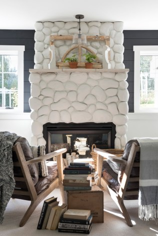 farmhouse fireplace