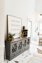 Living Room Decor White Farmhouse