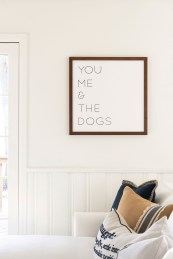 you me and the dogs sign