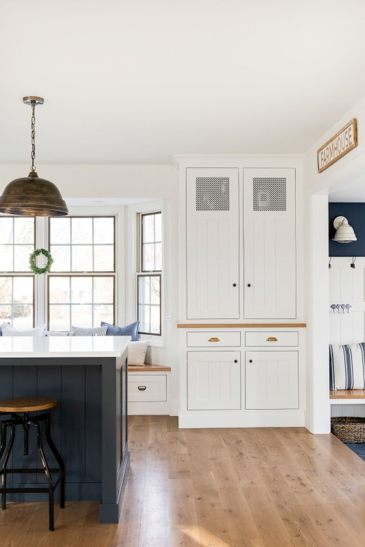 white cabinets country home