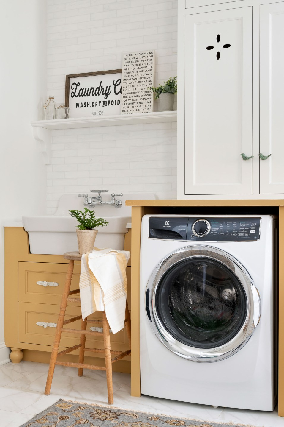 Yellow Laundry Room Ideas