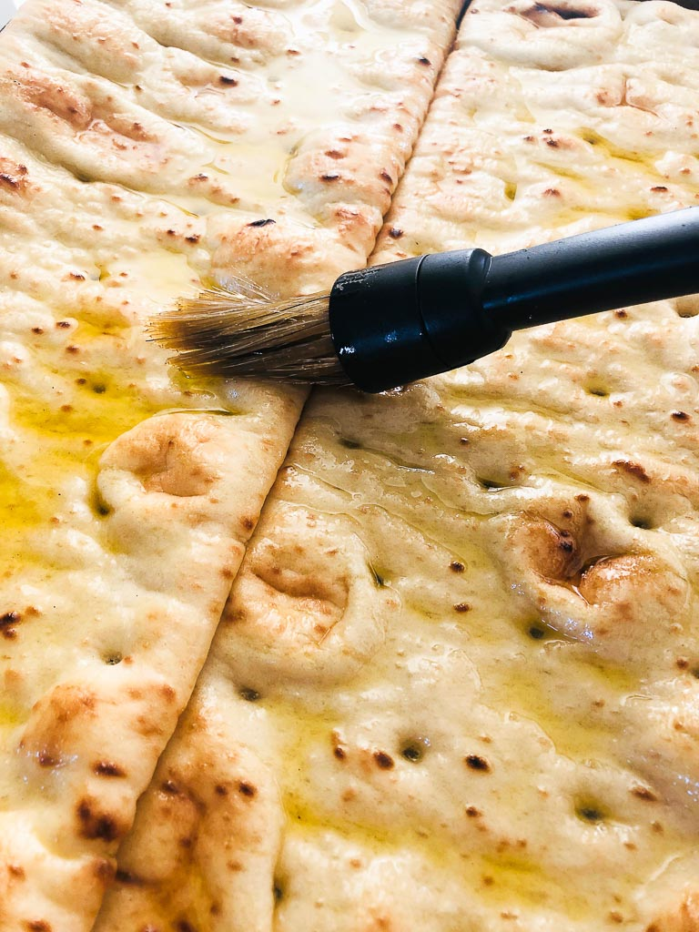 Brush the Flatbread with Oil