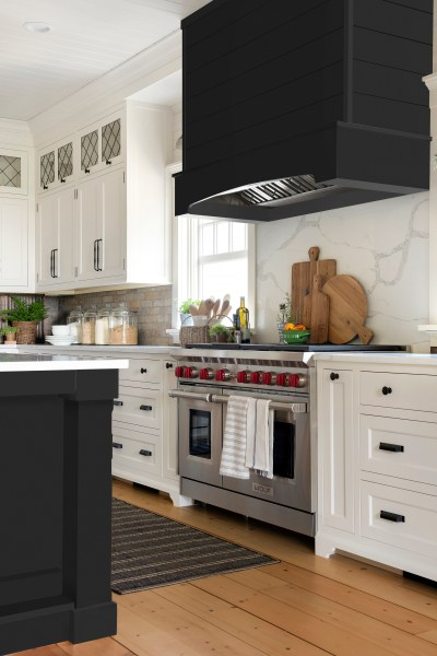 Homestead Farm Black Kitchen Island Design