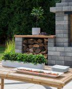 farmhouse outdoor grill area