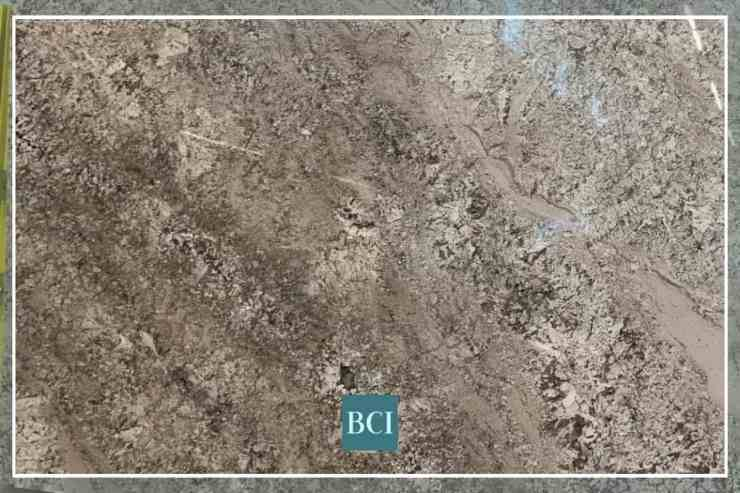 Photo of Pergamino granite slab that is perfect for a kitchen island countertop.