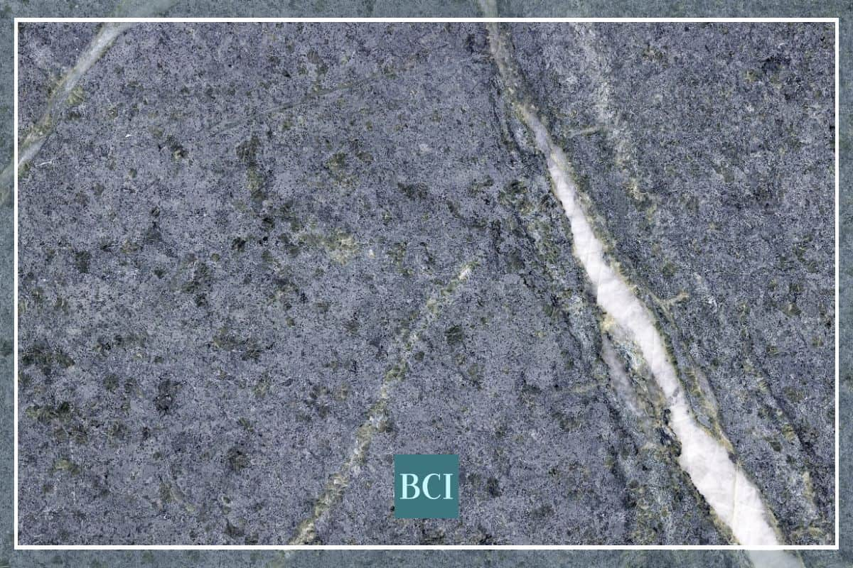 Photo of soapstone slab that is perfect for a kitchen island countertop.