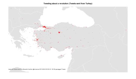 Turkish Tweets about the Gezi Park protests 1-3 Jun