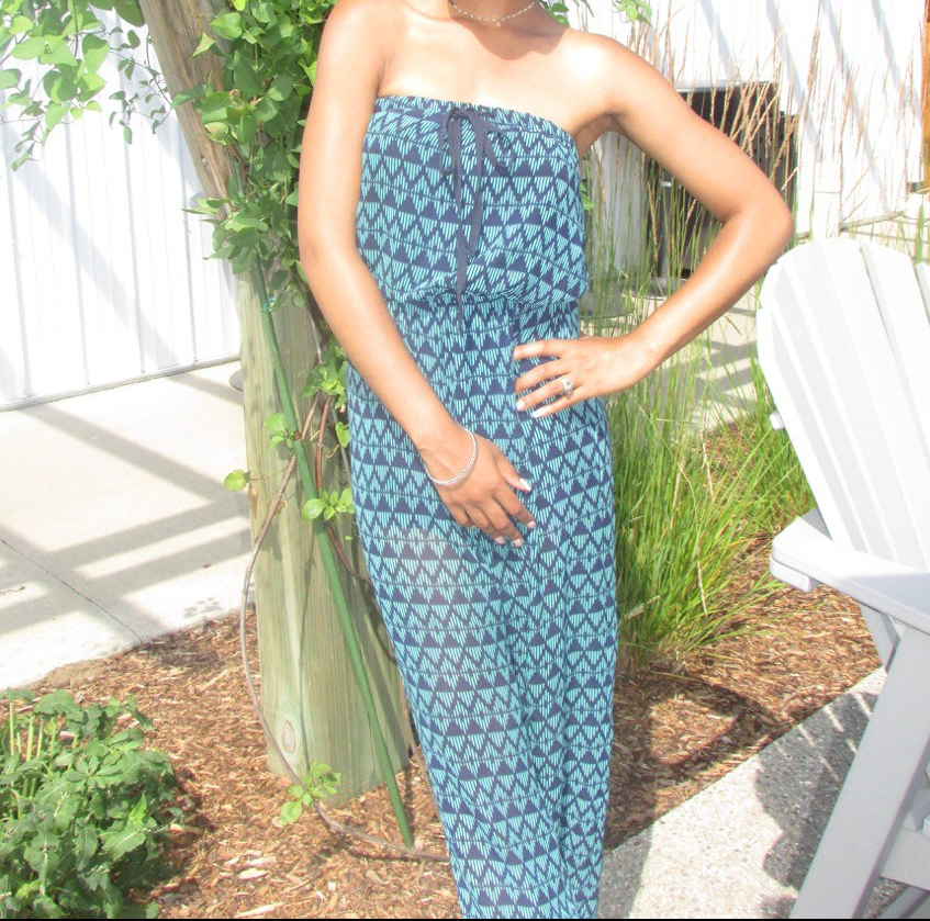 Patterned Summer Jumpsuit