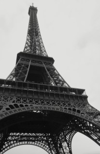 Eiffel Tower in Black and White - Paris France - by Anika Mikkelson - Miss Maps