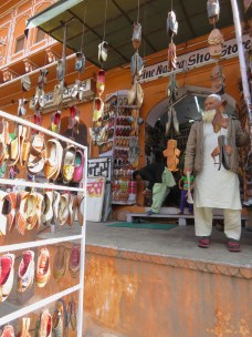 Fine shoe salesman in Jaipur India - by Anika Mikkelson - Miss Maps