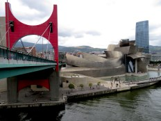 La Salve Bridge and the Guggenheim Museum - Bilbao Spain - by Anika Mikkelson - Miss Maps