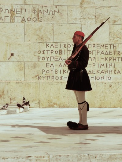 Changing of the Guards outside of Greece's Parliament Building - Athens Greece - by Anika Mikkelson - Miss Maps