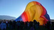 Albuquerque Balloon Fiesta Inflating- visit www.beautifulfillment.com for more inspirations!