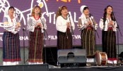 Folk Singers peform at the Internation Film Festival - Sibiu, Romania - by Anika Mikkelson - Miss Maps - www.MissMaps.com