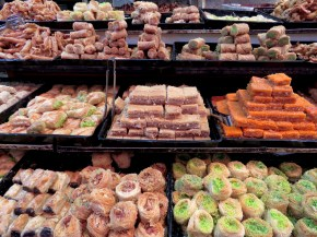 Baklava and other Middle Eastern sweets in Jerusalem - by Anika Mikkelson - Miss Maps - www.MissMaps.com