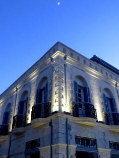 Downtown Limassol lit up at night - Limassol Cyprus - by Anika Mikkelson - Miss Maps - www.MissMaps.com