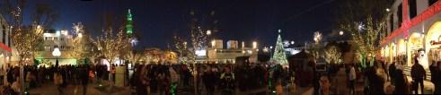 Panoramic of Manger Square, Bethlehem on Christmas Eve 2015 - Miss Maps - www.MissMaps.com