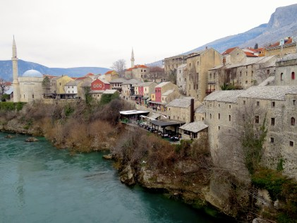 Old Town from Stari Most - Mostar, Bosnia and Herzegovina - by Anika Mikkelson - Miss Maps - www.MissMaps.com