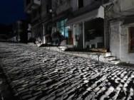 Lit by Car Lamps - Gjirokaster Albania - by Anika Mikkelson - Miss Maps - www.MissMaps.com