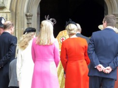 The Royal Family follows Her Majesty inside St. George's Chapel at Windsor Castle - Windsor, London, UK - Easter Sunday 2016 - by Anika Mikkelson - Miss Maps - www.MissMaps.com