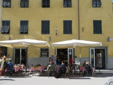 A lovely morning for a cafe - Lucca Italy - by Anika Mikkelson - Miss Maps - www.MissMaps.com