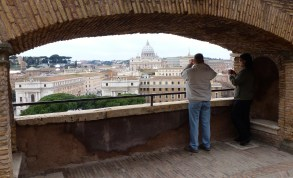 A view of the Vatican from Castel Sant'Angelo in Rome Italy - by Anika Mikkelson - Miss Maps - www.MissMaps.com