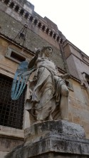 Ancient Angel Statue in Rome Italy - by Anika Mikkelson - Miss Maps - www.MissMaps.com