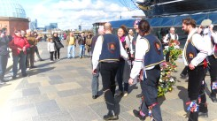 Meeting John Jon and Jonny of the Blackheath Morris Men and Cutty Shark Ship in Greenwich London UK - by Anika Mikkelson - Miss Maps